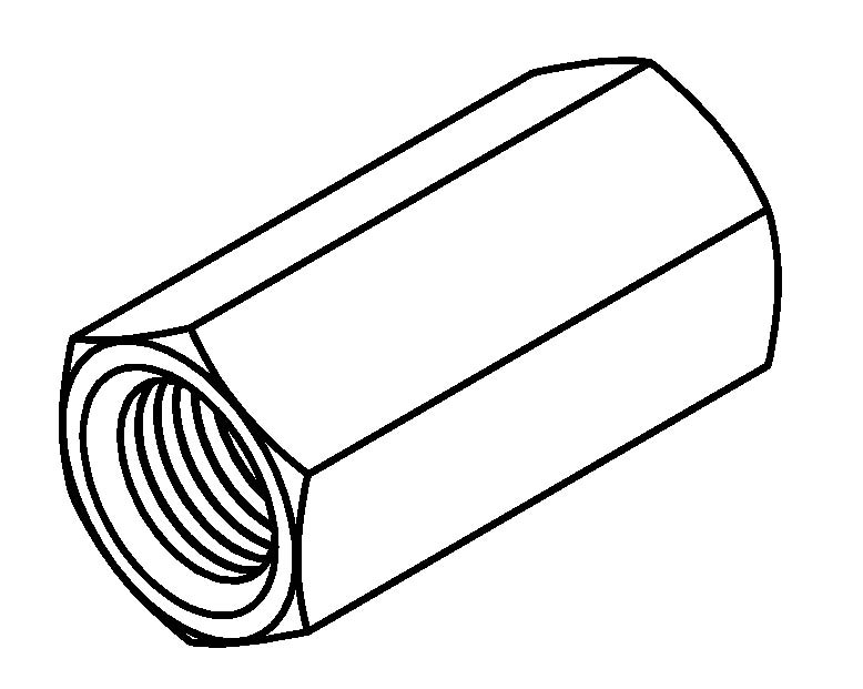 female tube joiner  8 x 24nf dps