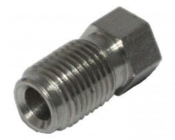 Male brake line fitting stainless