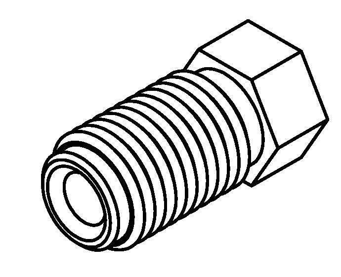 brake line fitting male 7  16 x 20nf 3  16